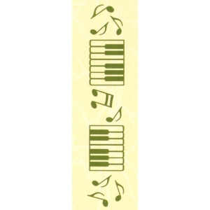 "Leane Creatief Border Embossing Folder Music 1"" X 6"""