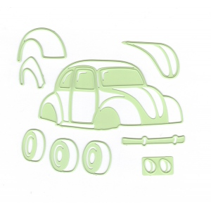Lea'bilitie® Car / Beetle- cut and embossing die