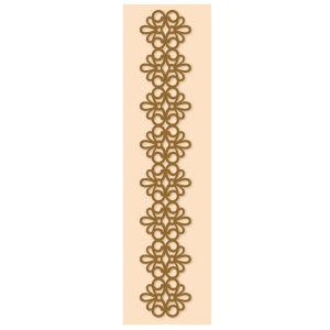 Border embossing folder lace strip