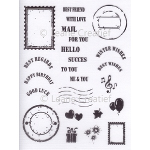 Leane Creatief Lecreadesign® Clear Stamp Mail