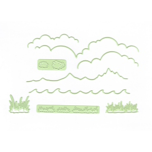 Lea'bilitie® Background dies Landscape- cut and embossing die
