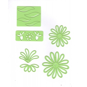 Lea'bilitie® Multi die flower 9 Chrysant, cut & embossing die