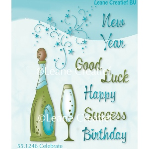 LeCreaDesign® clear stamp Celebrates