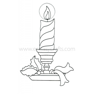 Leane Creatief Lea'bilities Clear Stamp - Candle