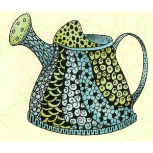 Lea'bilities Clear Stamp - Doodle Watering can