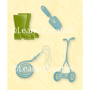 Leane Creatief Lea'bilities Clear Stamp - Garden Tools