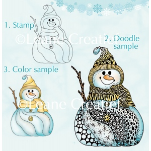 Doodle clear stamp Snowman.
