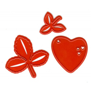 Joy! Crafts Cutting and Embossing Dies - heart with leaves