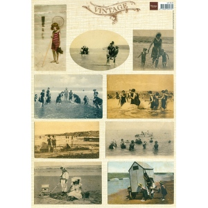 Marianne Design Cutting Sheet - Vintage Beach Tiny 1