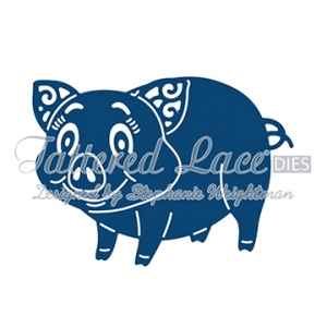 Tattered Lace Die - Pig