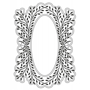 Creative Expressions Laurel Flourish Stamp