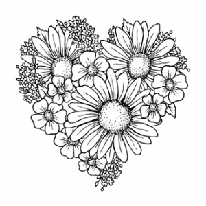 Creative Expressions  Stamps  -  Heart Of Blossoms