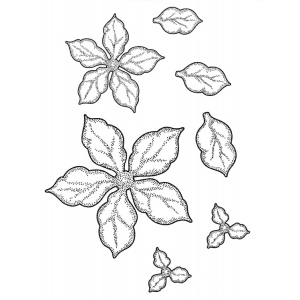 Creative Expressions  Stamps -Shaded Poinsettia Additions