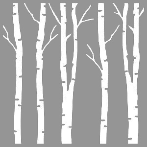 Creative Expressions  Mask - Birch Trees
