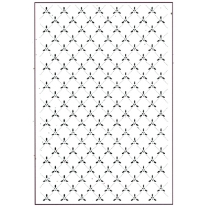 Embossing Folder A4 - Holly Lattice