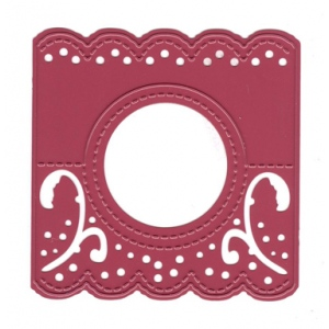 Joy! Crafts Cutting & Embossing Die Header Card -round