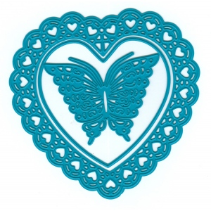 Joy! Crafts Cutting and Embossing Die (3pcs) - Open heart + Butterfly