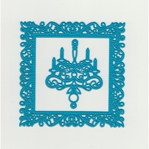 Cutting and Embossing die - square + chandelier