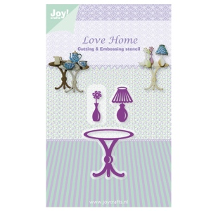 Joy! Crafts Dies - Love Home - Table, Lamp & Vase