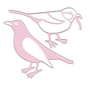Ecstasy Crafts Joy! Crafts Cutting & Embossing Die -  (2Pcs) Spring Love Birds
