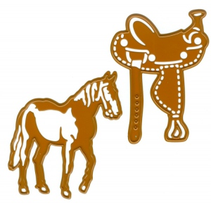 Cutting and Embossing Die - Horse and saddle (2pc)