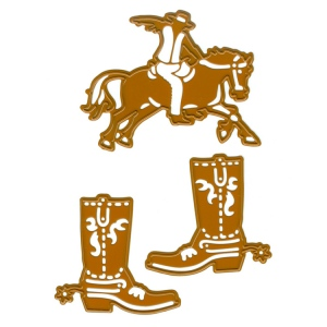 Ecstasy Crafts Cutting And Embossing Die - Cowboy And Cowboy Boots (2Pc)