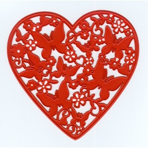 Ecstasy Crafts Joy! Crafts Cutting And Embossing Die - Sending Love - Heart Filled With Butterflies