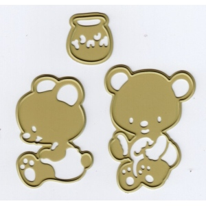 Ecstasy Crafts Cutting And Embossing Die - Honey Bears (3)