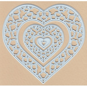 Joy! Crafts Cutting & Embossing Die - Gerti's hearts (3)