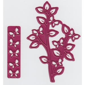 Cutting and Embossing die - branch with butterflies + butterflies