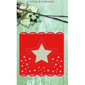 Cutting and Embossing die - head tag star