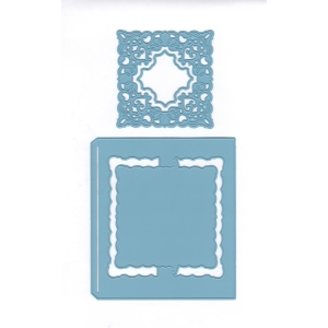 Joy! Crafts Cutting Die - Card Model Square + Chic Stencil