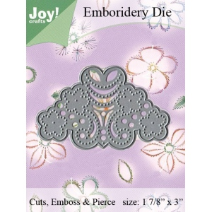 Joy! Crafts Dies - Embroidery on Paper Rounded Corner