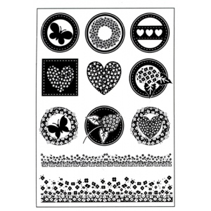 Ecstasy Crafts Clear Stamps - Button Sayings