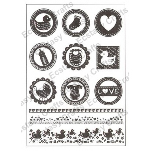 Ecstasy Crafts Clear Stamps - Baby