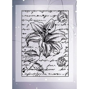 Ecstasy Crafts Clear Stamps - Lily With Script -2