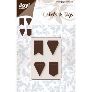 Ecstasy Crafts Joy! Crafts Dies - Labels & Tags Flags