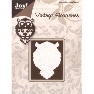 Joy! Crafts Dies - Vintage Flourishes-Owl