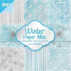 Ecstasy Crafts Paper Bloc Winter  36 Sheets  15 X 15 Cm
