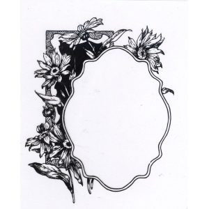 Ecstasy Crafts Clear Stamp Flower With Frame