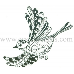 Joy! Crafts Clear Stamps - Zentangle bird