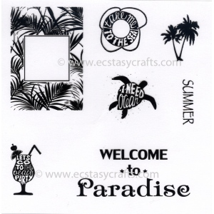 Ecstasy Crafts Joy! Crafts - Stamp - Welcome To Paradise