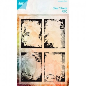 Ecstasy Crafts Clear Stamp - Atc-Sized Frames