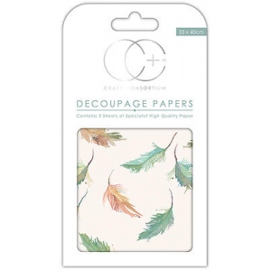 Creative Expressions Large Feathers Decoupage Papers
