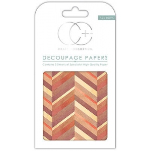 Chevron Burnt Decoupage Papers