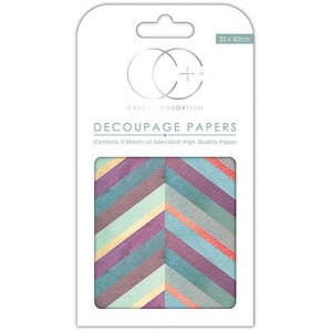 Chevron Brights Decoupage Papers