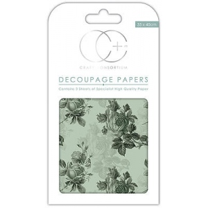 Blue Rose Mid Decoupage Papers