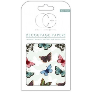 Creative Expressions Butterfly Repeat Decoupage Papers