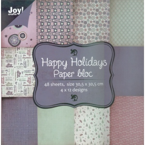 Ecstasy Crafts Paper Bloc - Happy Holidays-12X12 Paper Pad