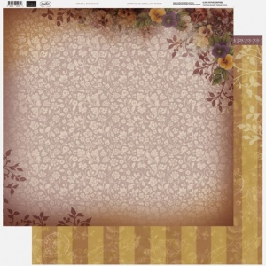 Couture Creations - 12 x 12 Paper (5 sheets) - Pansy Damask